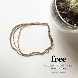 🍄Rhinestone + Chain Bracelet